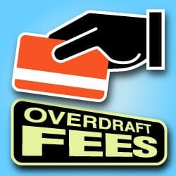 Overdraft fees card systems