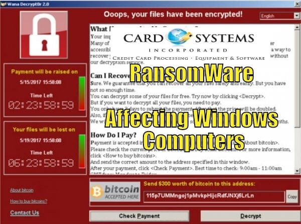 RansomWare A Reason To Keep your POS Systems up to date