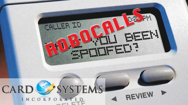 Card systems RoboCalls spoofing
